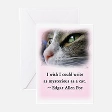 Poe's Cat Greeting Cards (Pk of 10)