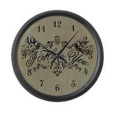 Fancy I Hate You Large Wall Clock