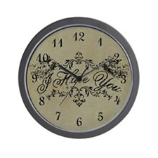 Fancy I Hate You Wall Clock