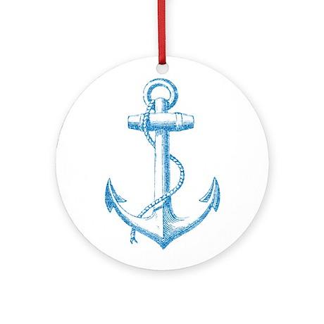 Glitter Anchor Ornament (Round)