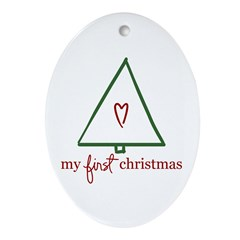My First Christmas (Gift) Oval Ornament