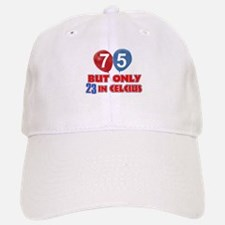 75 year old designs Baseball Baseball Cap