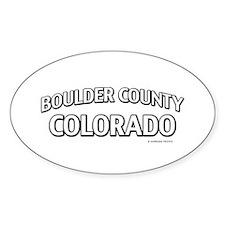 Boulder County Colorado Decal