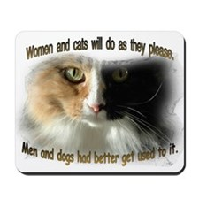 Women and Cats Mousepad