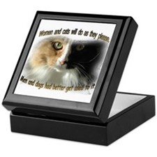 Women and Cats Keepsake Box
