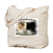 Women and Cats Tote Bag