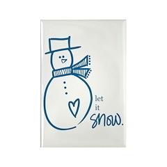 Let it Snow Rectangle Magnet (10 pack)