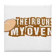 Their buns - My oven Tile Coaster
