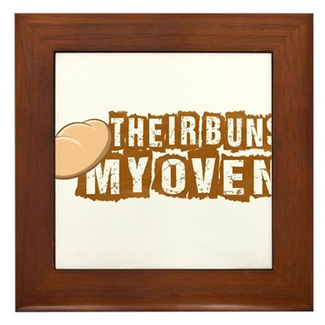 Their buns - My oven Framed Tile