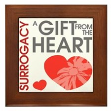 Surrogacy A Gift from the Heart Framed Tile