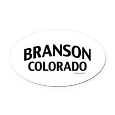 Branson Colorado Oval Car Magnet