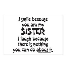 BECAUSE YOU ARE MY SISTER Postcards (Package of 8)