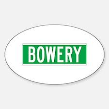 Bowery, New York - USA Oval Decal