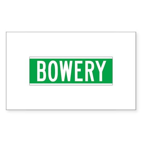 Bowery, New York - USA Rectangle Sticker