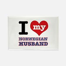 I love my Norwegian Husband Rectangle Magnet