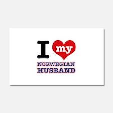 I love my Norwegian Husband Car Magnet 20 x 12