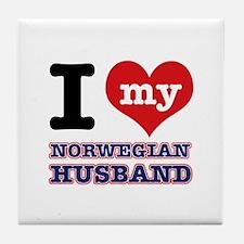 I love my Norwegian Husband Tile Coaster
