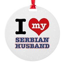 I love my Serbian Husband Ornament
