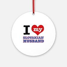 I love my Slovakian Husband Ornament (Round)