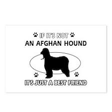 Afghan Hound designs Postcards (Package of 8)