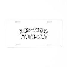 Buena Vista Colorado Aluminum License Plate