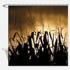Corn field silhouettes Shower Curtain