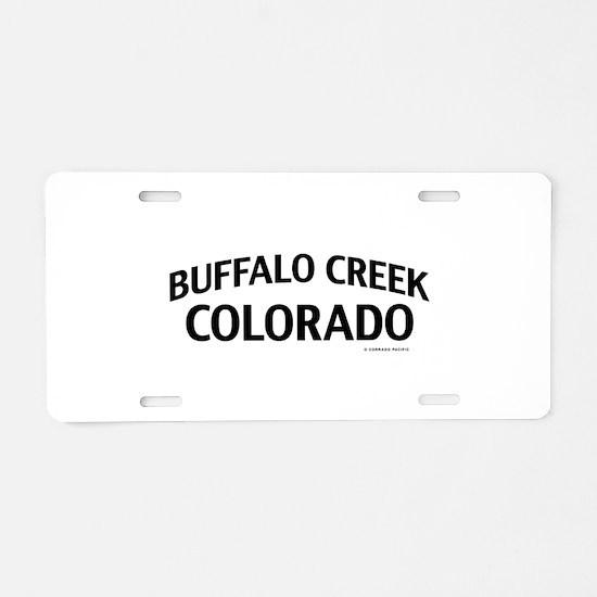 Buffalo Creek Colorado Aluminum License Plate