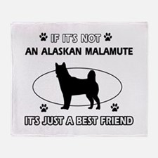 Alaskan Malamute designs Throw Blanket