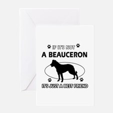 Beauceron designs Greeting Card