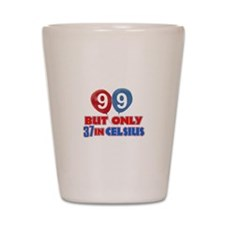 99 year old designs Shot Glass