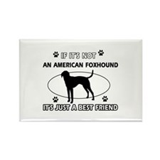 American Foxhound designs Rectangle Magnet (10 pac