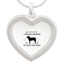Belgian Laekenois designs Silver Heart Necklace