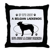 Belgian Laekenois designs Throw Pillow