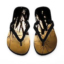 Corn field silhouettes Flip Flops