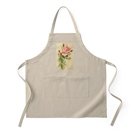 Pink Rose Victorian Flower Vi BBQ Apron
