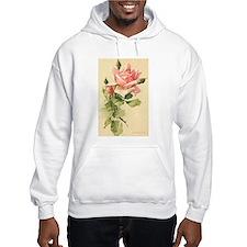 Pink Rose Victorian Flower Vi Hoodie