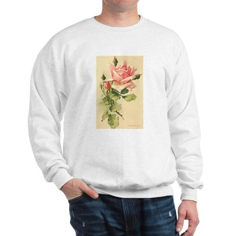 Pink Rose Victorian Flower Vi Sweatshirt