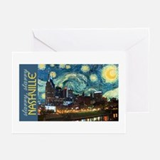 Starry, Starry Nashville Greeting Cards (Package o