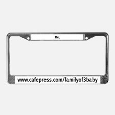 Family of 3, Baby! License Plate Frame
