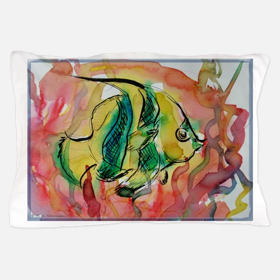 Tropical Fish, colorful art! Pillow Case