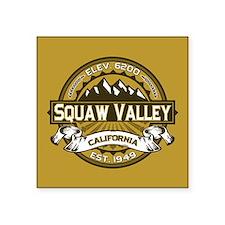 """Squaw Valley Wheat Square Sticker 3"""" x 3"""""""