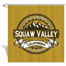 Squaw Valley Wheat Shower Curtain