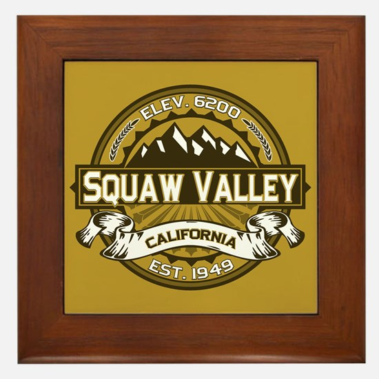Squaw Valley Wheat Framed Tile