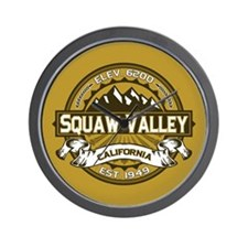 Squaw Valley Wheat Wall Clock