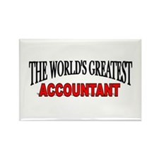 """The World's Greatest Accountant"" Rectangle Magnet"
