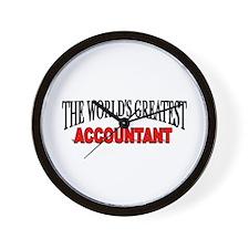 """The World's Greatest Accountant"" Wall Clock"