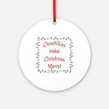 Chinchilla Merry Ornament (Round)