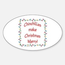 Chinchilla Merry Oval Decal