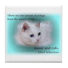 Schweitzer's Cat Tile Coaster