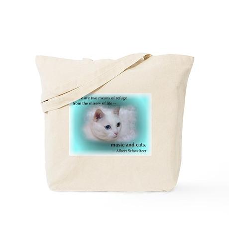 Schweitzer's Cat Tote Bag
